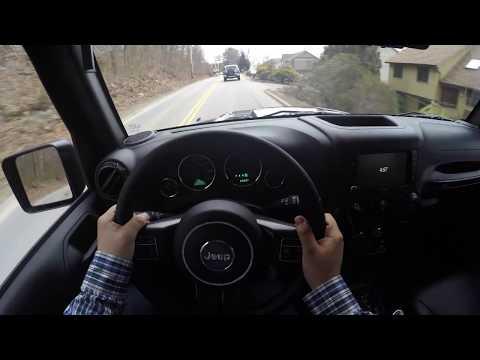 4K (POV) Test Drive: 2017 Jeep Wrangler Smoky Mountain (Binaural)