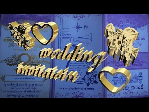 Wedding invitation letter and Festival invitation letter samples ជ្រើសរើសធៀបកាដែលអ្នកស្រលាញ់