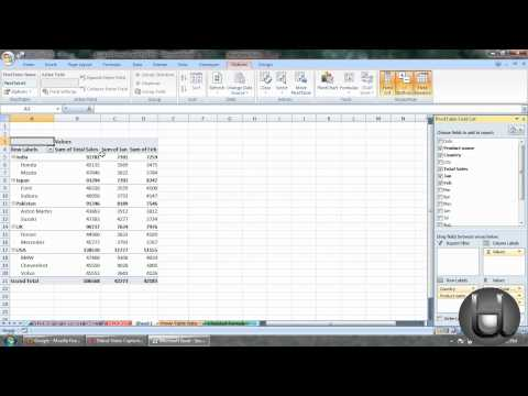 How to use Pivot Table in MS Excel 2007 (A K Singh, Shekpura,Begusarai)
