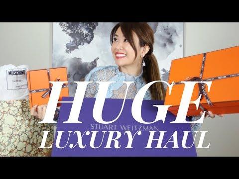 HUGE LUXURY HAUL/UNBOXING  ft HERMES, BALMAIN, STUART WEITZMAN