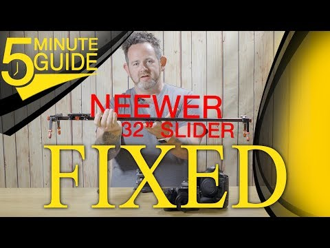 Wobbly Neewer DSLR Camera Slider SIMPLE FIX!