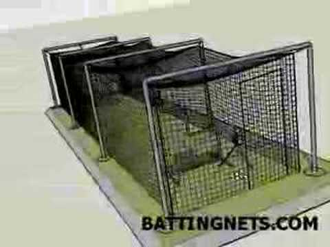Outdoor Batting Cage Kit / In-Ground with Hardware Kit (BattingNets.com)