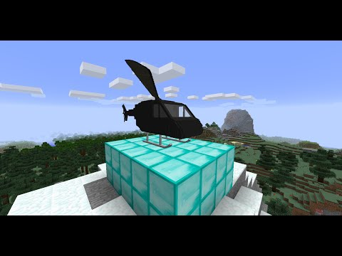 How to make a WORKING helicopter in vanilla minecraft!
