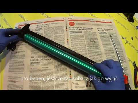 MINOLTA Bizhub C200 C203 C253 C353 How to replace drum OPC Cleaning Blade