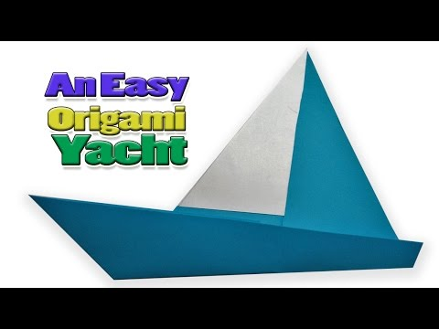 Easy Origami  Yacht_How To Make Origami Yacht_Paper Folding Yacht_Paper Instructions