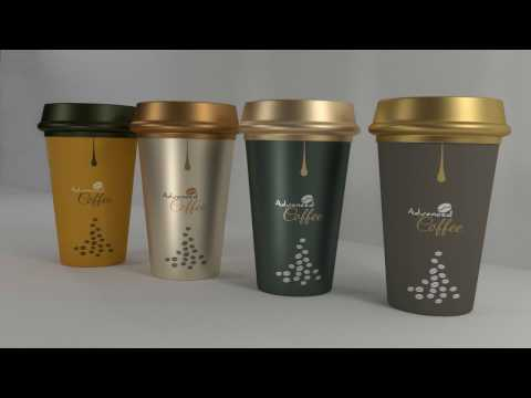 TUTORIAL Packaging design - Illustrator CC - COFFEE CUPS 3D DESIGN - speed art