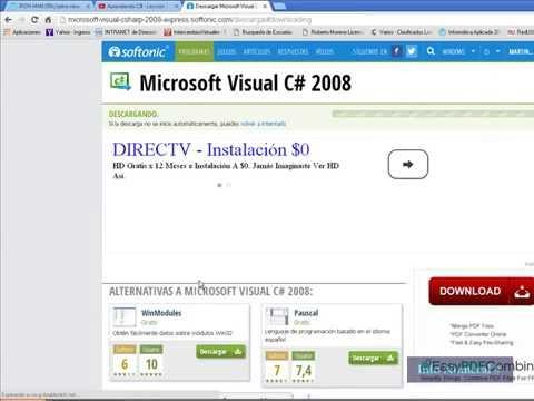 Bajar el Microsoft Visual C# 2008