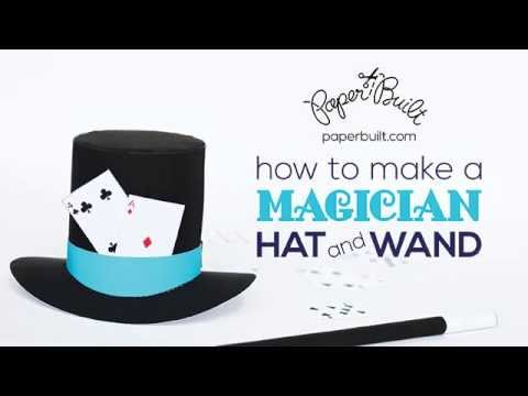 How to Make a Magician Hat and Wand by Paper Built