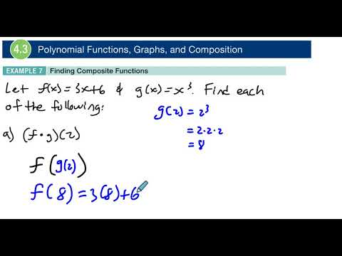 4.3 Example 7 Finding Composite Functions
