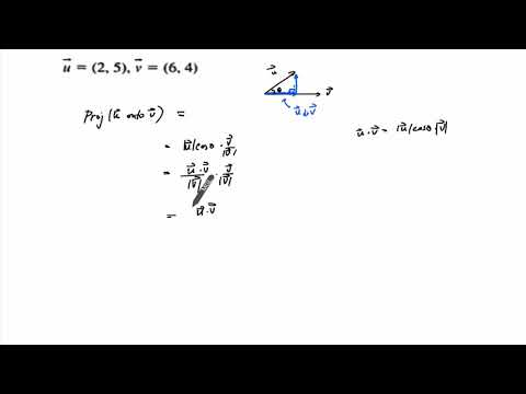 example of Projection of Vectors with detailed explanation