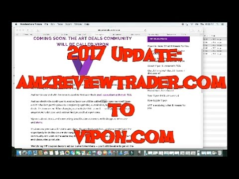 2017 Update: Getting Free Products on Amazon from AMZReviewtrader Now Called Vipon!!!