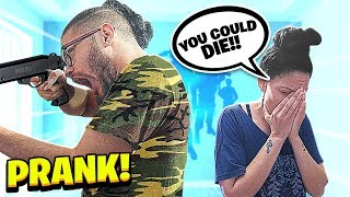 IM GOING TO THE ARMY PRANK ON MOM!! *SHE CRIED*