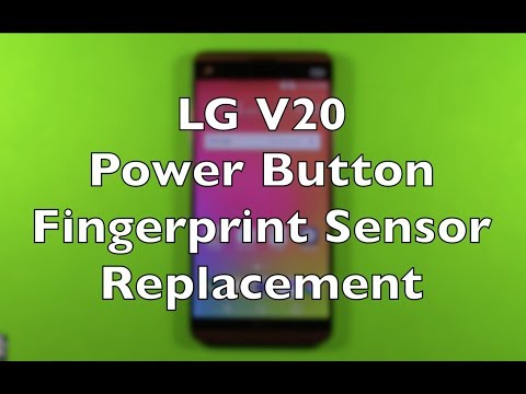 LG V20 Fingerprint Sensor Power Button Replacement How To Change