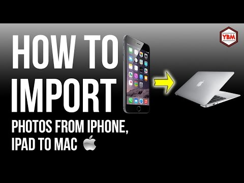 HOW TO import photos from iPhone (iPad) to Mac without iTunes (image capture)