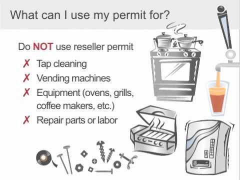 Reselllers Permit Basics