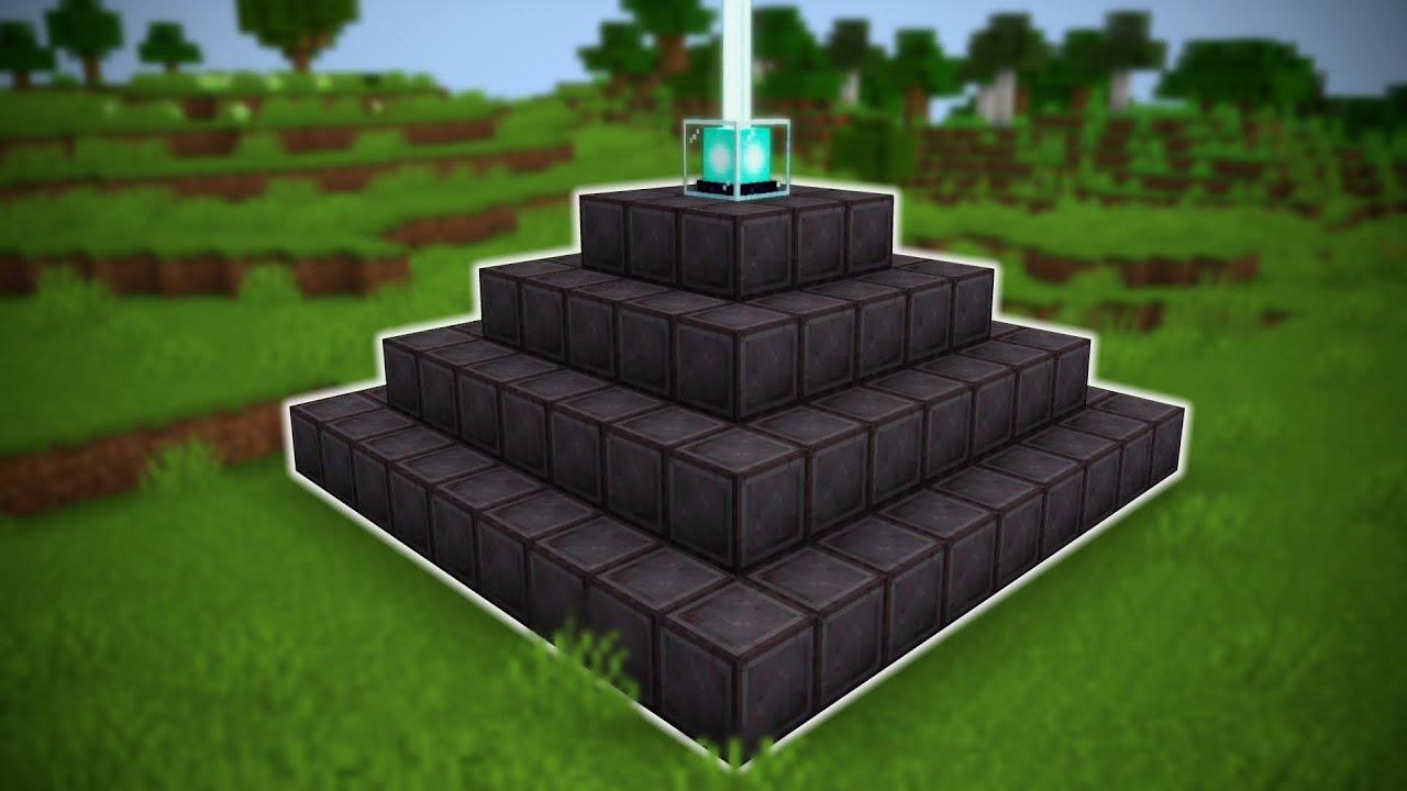 I Made a FULL NETHERITE BEACON in Minecraft Hardcore
