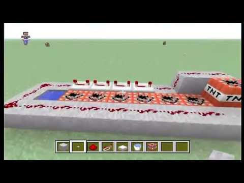 Minecraft Xbox 360 How To Make TNT Cannon .