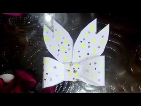 How to make an easy paper bow/ribbon origami