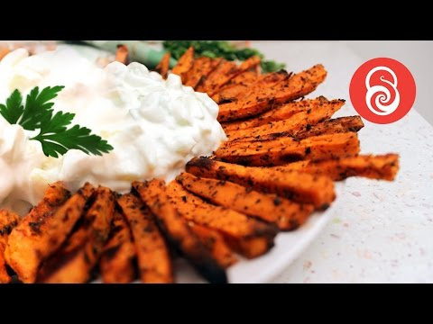 How to make Baked Sweet Potato Fries | Healthy Recipe