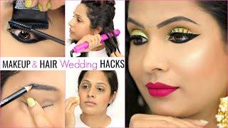 7 TIME Saving WEDDING Makeup & Hair HACKS | #GRWM #Haircare #Tips #Anaysa #ShrutiArjunAnand