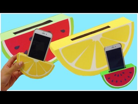 HOW TO MAKE a phone holder,easy DIY(watermelon,orange)