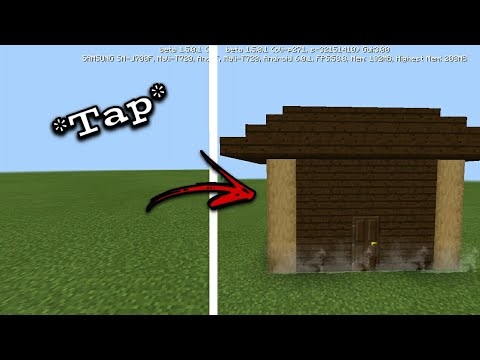 MCPE 1.2 How To Spawn A House Instantly | Command Block Creation