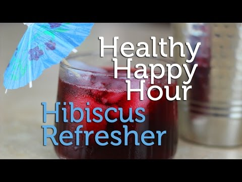 Healthy Happy Hour | Hibiscus Refresher Cocktail Recipe