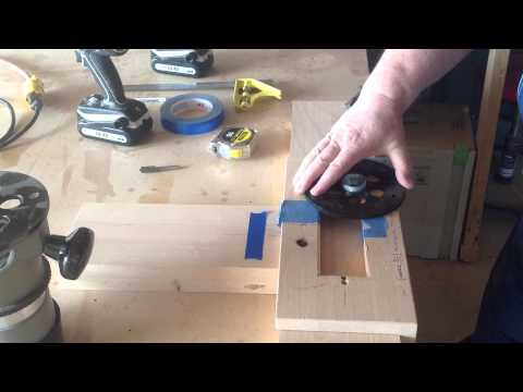 Flush pull router template