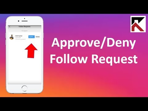 How To Approve or Deny A follow Request Instagram