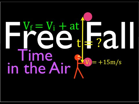 Physics, Kinematics, Free Fall (6 of 12) Total Time In the Air from Known Initial Velocity