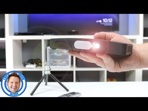 Best Portable Mini HD Projector by TOUYING | WiFi, Battery, HDMI, USB, Bluetooth, Apps