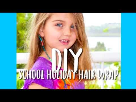 DIY School Holiday Hair Wrap