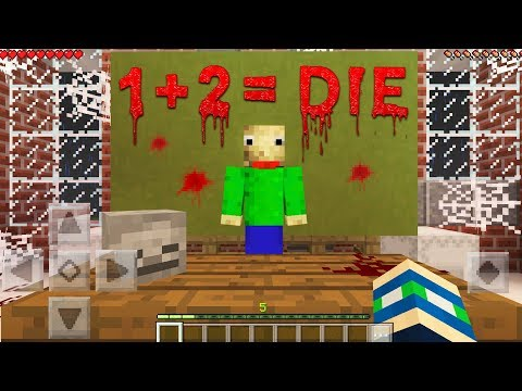 I FOUND BALDI BASICS in Minecraft Pocket Edition!