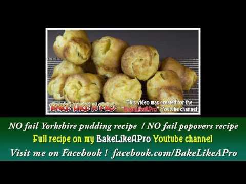 Easy Popovers Recipe Teaser NO Fail Yorkshire Pudding Recipe