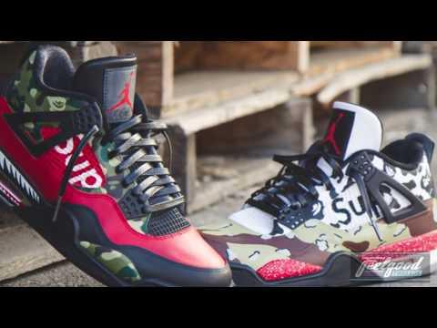 How to: SUPREME X BAPE Jordan 4 Tutorial!