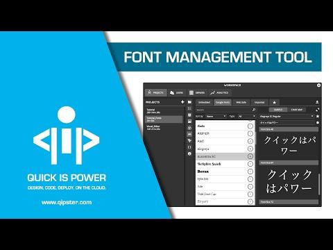 Font Management Tool - Qipster Tutorial