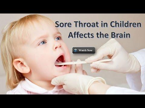 Sore Throat in Children Affects the Brain