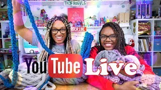 YouTube LIVE with the Froggy's | Q&A | Fan Mail | Finger Knitting and more