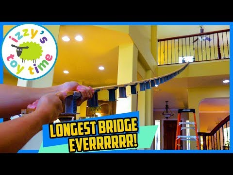 LONGEST THOMAS BRIDGE EVER! TWO FLOORS! Thomas and Friends Fun Toy Trains for Kids