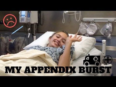MY APPENDIX BURST *not clickbait*
