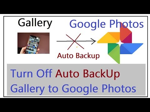 How to turn off Auto Back Up for Google Photos from Gallery