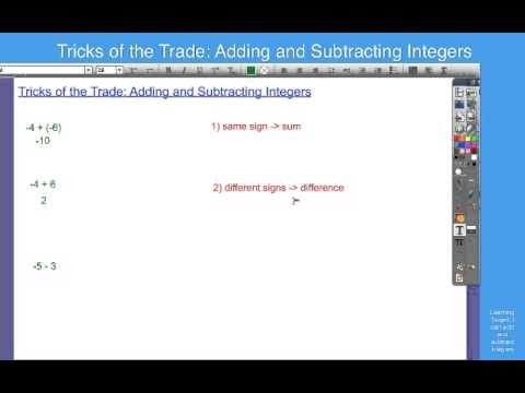 Tricks of the Trade   Adding and Subtracting