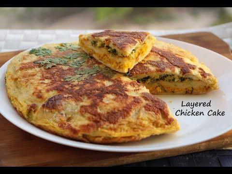 Simple bread snack - Layered Chicken cake ബ്രഡ് ചിക്കൻ കേക്ക്