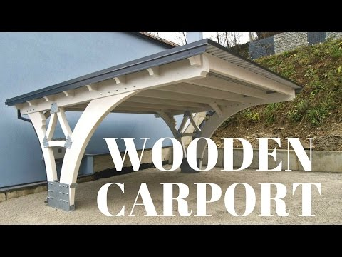Making of glulam carport