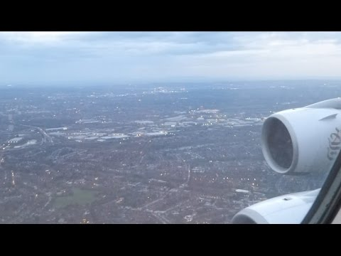 2017.03.30 Descent & landing at Birmingham International Airport on the upper deck of an A380-800 UK