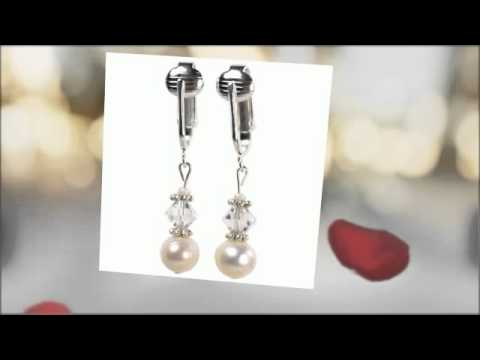 Pearl Clip On Earrings