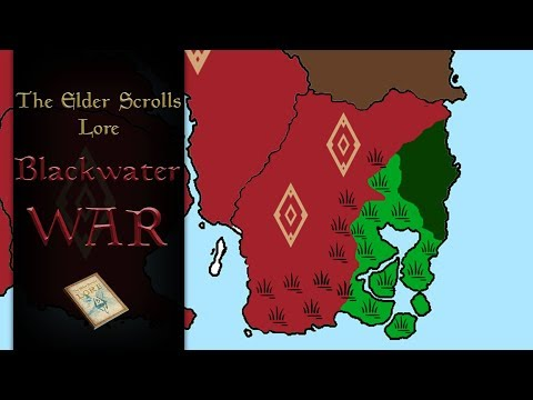 The Blackwater War explained with map - The Elder Scrolls Lore