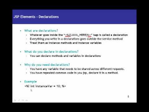 JSP(Java Server Pages) Tutorial 02 Elements - Declarations, Scriptlets, Expressions