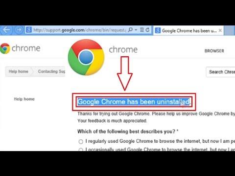 Uninstall Google™ Chrome on Windows® 8 PC