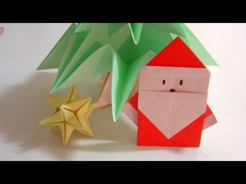 Simple Origami Santa Claus - Papai Noel de Origami